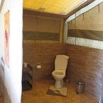 Bathroom in the tent...
