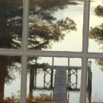 The dock from the upstairs window