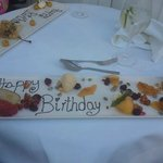 Birthday platter! Very impressive.