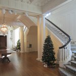 Front staircase of mansion