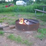campfire at site.