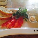 Starter: smoked salmon