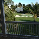 """Garden view, putting green and """"quiet"""" pool on right"""