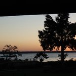Restaurant sunset view
