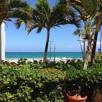View of Condado Beach from the hotel entrance