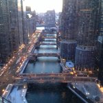 View of the Chicago River from our room