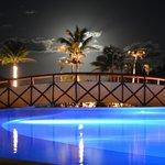 Tulum area pool at night