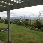 View form room overlooking the garden & onto Rotorua