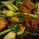 Crispy Pork and Chinese Broccoli, Sri Nuan, Lamai