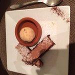 Gâteau chocolat et sa glace spéculos