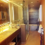 One bed ocean front suite(newly renovated rooms) full bathroom they also have 1/2 a bathroom