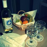 Dear GM, Thank you for a welcome wine and fruit basket! Wish you and your hotel all the best!
