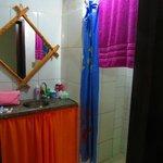 Banheiro do Maloca Hostel / Quarto duplo