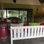 our private open air living room and dining room
