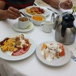 El desayuno en el casa mexicana incluido en el suite colonial