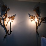 Decoration on the wall of our lounge in our suite
