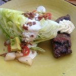 Steak and lettuce wedge/salad - excellent