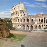 panoramic view of the colosseo