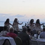 hula dancers on beach