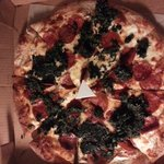 gross spinach globs they dumped on my pizza
