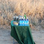Sundowner drinks table - afternoon game drive