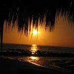 Sunset on the resort