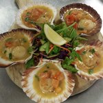 Lovely Pan Seared Scallops : )