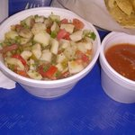 Fish Ceviche with Chips & Salsa