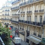 View from our balcony, gorgeous Paris!