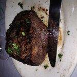 Baseball steak...sizzling succulent steak (can you hear it sizzle?)