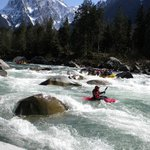 Skykomish spring rafting on a sunny day, one hour from Seattle.