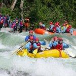 Rafting boulder drop on the Skykomish River