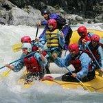 Skykomish River rafting Boulder drop.