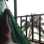 Each room has its own hammock