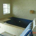 Jacuzzi tub in balcony