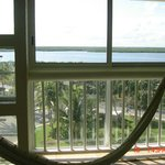 Hammock and view from room