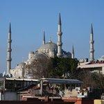 La mosquée bleue depuis la terrasse
