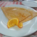 Sugar and Grand Marnier Crepe