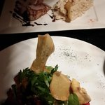 plato del dia del chef y frutos de mar estilo thai
