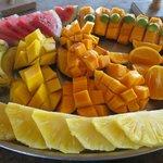 Healthy rich reakfast buffet