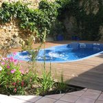 Pool in secluded garden