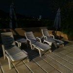 poolområdet kvällstid
