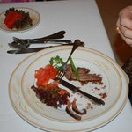 Duck with walnuts and port