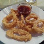 Yummy spicy battered calamari