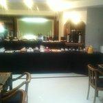 Foto do salão de café da manhã
