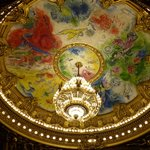 Chagall Ceiling painting at Opera National