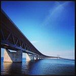 Öresunds bridge from the Sweden side