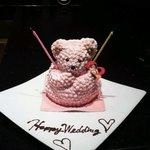 結婚祝いのくまサンのケーキです。 可愛いうえにおいしかった~♡