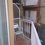 The spacious balcony