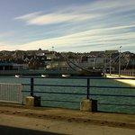 beautiful view of Celtic bridge and the sea